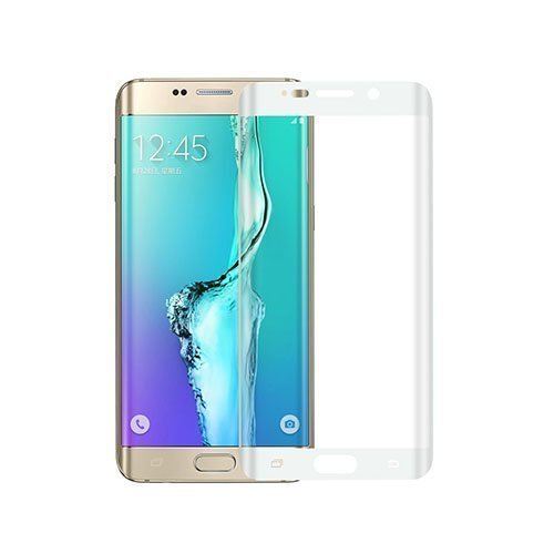 0.1mm Pet Kaareva Näytönsuoja Samsung Galaxy S6 Edge Plus Puhelimelle Valkoinen