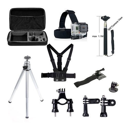 10 In 1 Gopro Accessories Set With Chest Belt