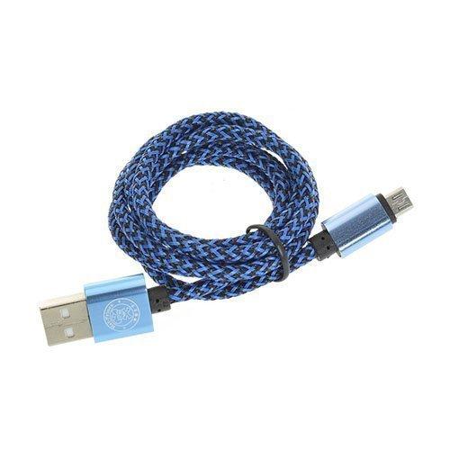 1m Hamppuköysi 2a Mikro Usb Kaapeli Sininen