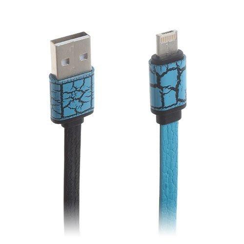 2-In-1 Micro Usb Data Latauskaapeli Iphone Samsung Laitteille Sininen