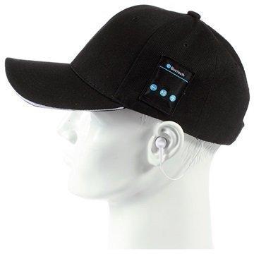2-in-1 Baseball-Lippis Bluetooth-StereoKuulokkeet Musta