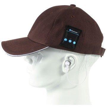 2-in-1 Baseball-Lippis Bluetooth-StereoKuulokkeet Ruskea