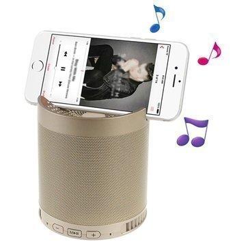 2-in-1 Kannettava Bluetooth-kaiutin & Puhelimen pöytäteline Kulta