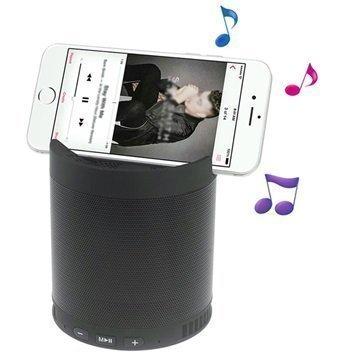 2-in-1 Kannettava Bluetooth-kaiutin & Puhelimen pöytäteline Musta