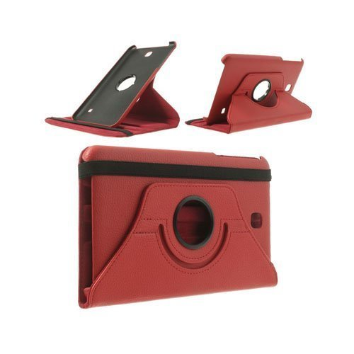 3-Sixty Punainen Samsung Galaxy Tab 4 8.0 Nahkakotelo