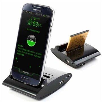 3 in 1 OTG Telakka Samsung Galaxy S4 I9500 I9505 I9506 I9502 Musta