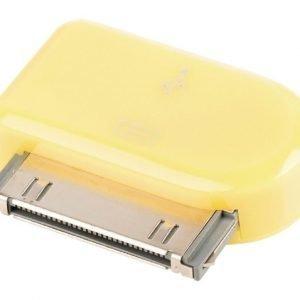 30-napainen telakkasovitin 30-napainen telakka uros USB Micro B naaras keltainen