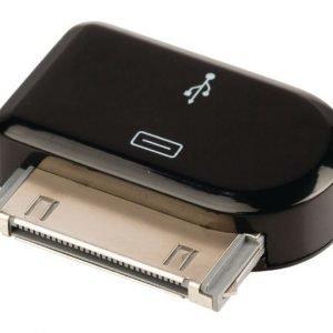 30-napainen telakkasovitin 30-napainen telakka uros USB Micro B naaras musta