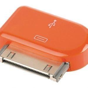 30-napainen telakkasovitin 30-napainen telakka uros USB Micro B naaras oranssi