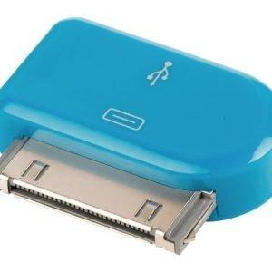30-napainen telakkasovitin 30-napainen telakka uros USB Micro B naaras sininen