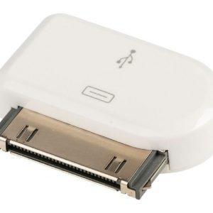 30-napainen telakkasovitin 30-napainen telakka uros USB Micro B naaras valkoinen