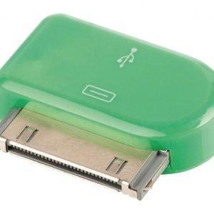 30-napainen telakkasovitin 30-napainen telakka uros USB Micro B naaras vihreä