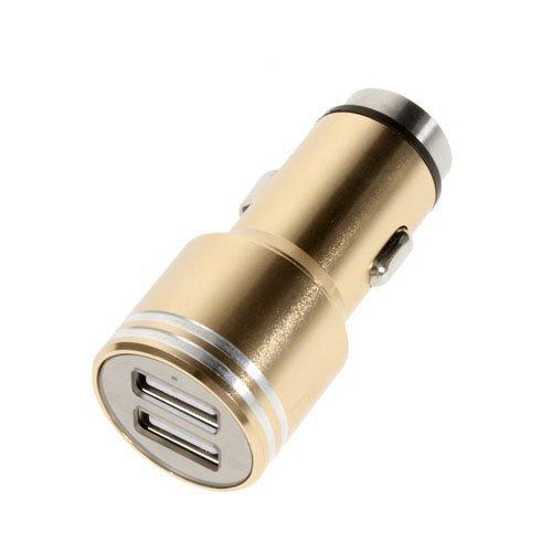 3.1a Kaksois-Usb Alumiininen Autolaturi Hätävasaralla Kulta
