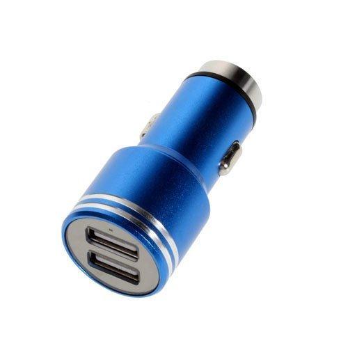3.1a Kaksois-Usb Alumiininen Autolaturi Hätävasaralla Sininen