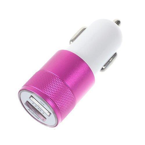 3.4a Kaksois-Usb Autolaturi Adapteri Iphone Ipad Samsung Laitteille Rosee