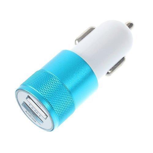 3.4a Kaksois-Usb Autolaturi Adapteri Iphone Ipad Samsung Laitteille Sininen