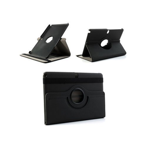 360degree Musta Samsung Galaxy Note 10.1 2014 Edition Nahkainen Kotelo