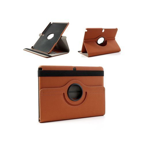 360degree Oranssi Samsung Galaxy Note 10.1 2014 Edition Nahkainen Kotelo