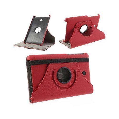 360degree Punainen Asus Fonepad 7 2013 Nahkakotelo
