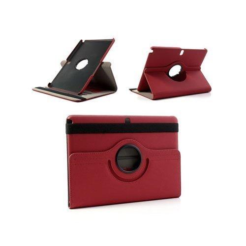 360degree Punainen Samsung Galaxy Note 10.1 2014 Edition Nahkainen Kotelo