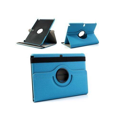 360degree Vaalean Sininen Samsung Galaxy Note 10.1 2014 Edition Nahkainen Kotelo