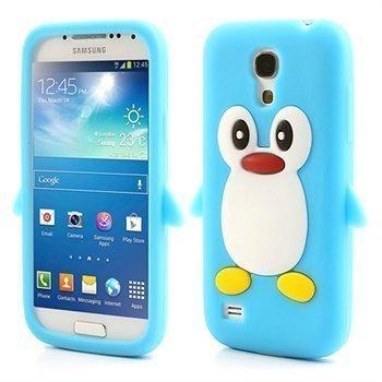 3D Penguin Silikoni Kotelo Samsung Galaxy S4 mini I9190 I9192 I9195 Baby Blue