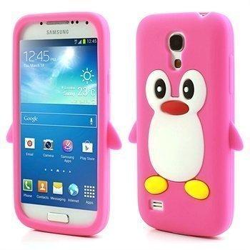 3D Penguin Silikoni Kotelo Samsung Galaxy S4 mini I9190 I9192 I9195 Kuuma Pinkki