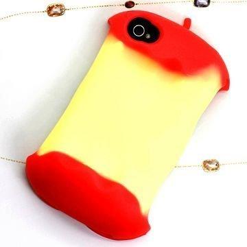 3d Apple Punainen Iphone 4 / 4s Silikonikuori