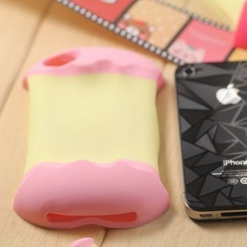 3d Apple Vaaleanpunainen Iphone 4 / 4s Suojakuori