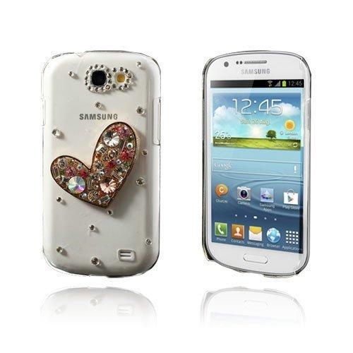 3d Bling Heart Samsung Galaxy Express Suojakuori