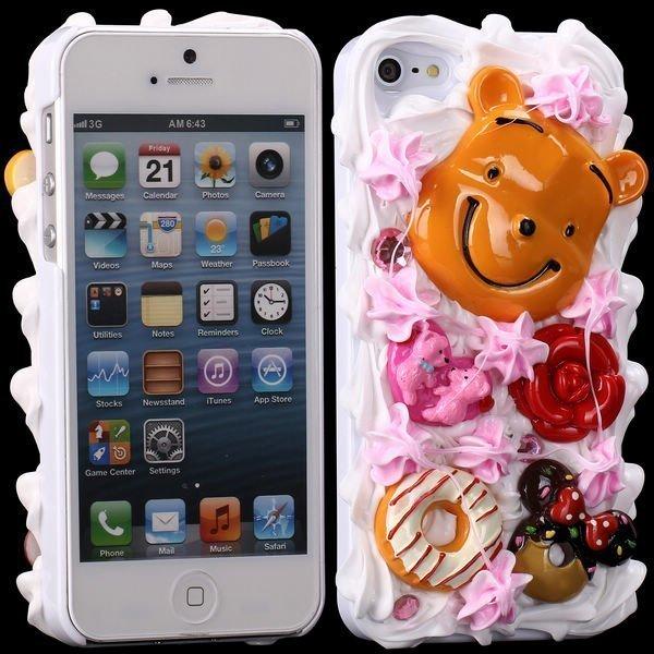 3d Cuties Ceramic Hymyilevä Karhu Iphone 5 Suojakuori