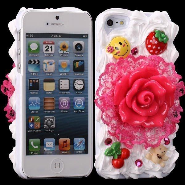 3d Cuties Ceramic Pinkki Ruusu Iphone 5 Suojakuori