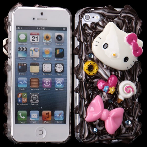 3d Cuties Ceramic Rusetti & Kisu Iphone 5 Suojakuori