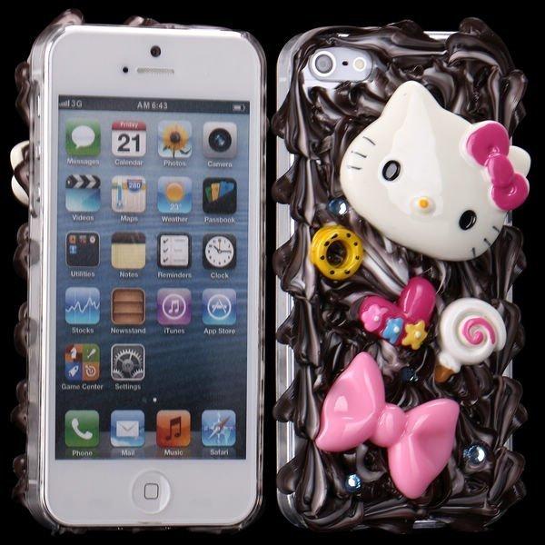 3d Cuties Ceramic Rusetti & Kisu Iphone 5 Suojakuori