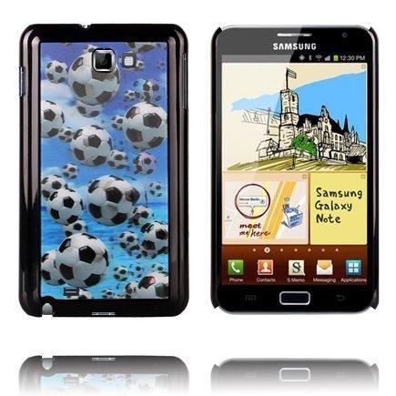 3d Effect Jalkapallot Samsung Galaxy Note Suojakuori