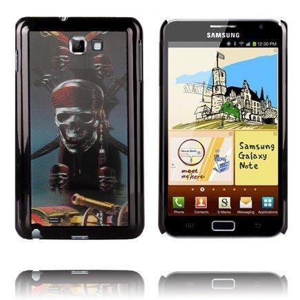 3d Effect Pirate Pääkallo Samsung Galaxy Note Suojakuori