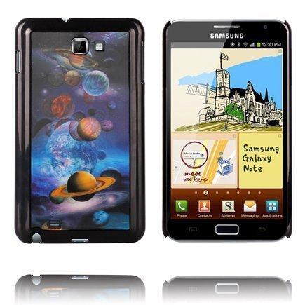 3d Effect Planeetat Samsung Galaxy Note Suojakuori