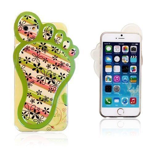 3d Foot Kukat & Raidat Iphone 6 Suojakuori