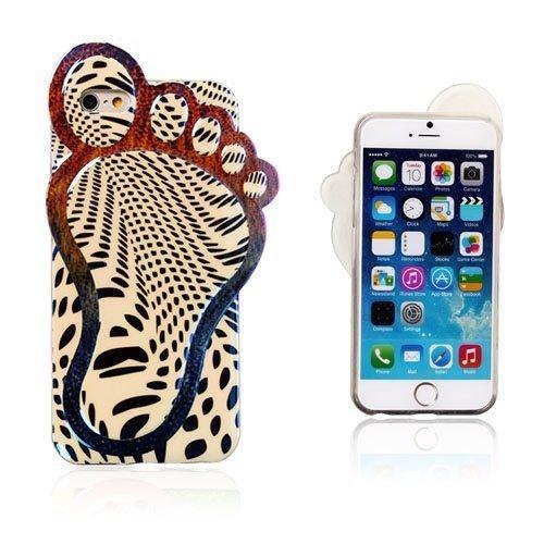 3d Foot Mustat Kuviot Iphone 6 Suojakuori