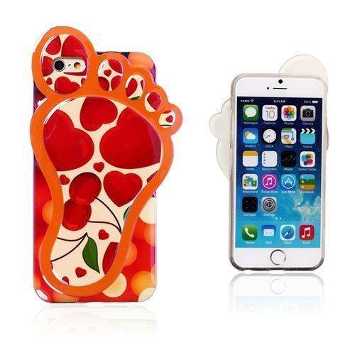 3d Foot Punaiset Sydämet & Kirsikka Iphone 6 Suojakuori