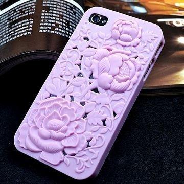 3d Kukka Vaaleanpunainen Iphone 4s Suojakuori