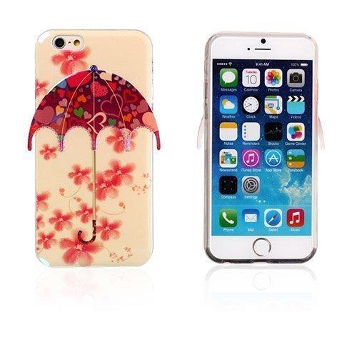 3d Umbrella Kukat & Sydämet Iphone 6 Suojakuori