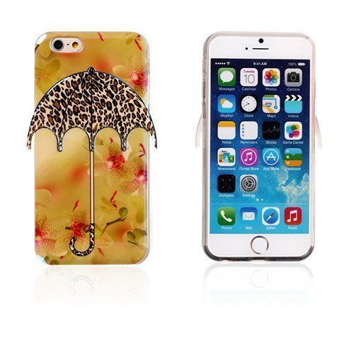 3d Umbrella Leopardi Kuvio Iphone 6 Suojakuori