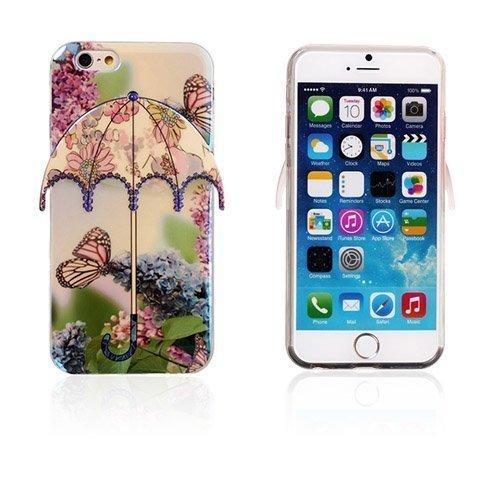 3d Umbrella Perhonen & Violetit Kukat Iphone 6 Suojakuori