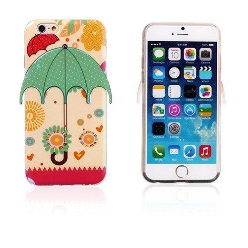 3d Umbrella Piirretty & Pilkut Iphone 6 Suojakuori