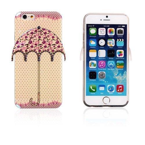 3d Umbrella Pilkut & Huulet Iphone 6 Suojakuori