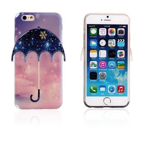 3d Umbrella Tähtitaivas & Lumihiutaleet Iphone 6 Suojakuori