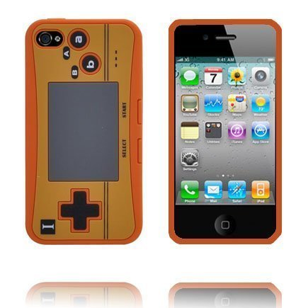 4s Peliohjain Suojakuori Oranssi Iphone 4s Silikonikuori