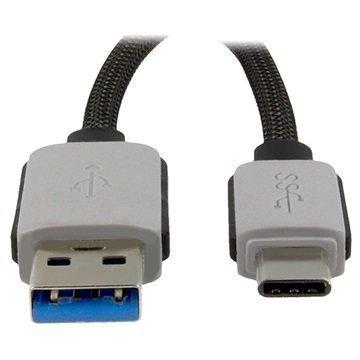 4smarts BasicLine USB 3.0 A-Tyyppi / USB 3.1 C-Tyyppi Kaapeli Harmaa