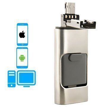 4smarts Collector OTG-Muistitikku Lightning USB 2.0 MicroUSB 32Gt